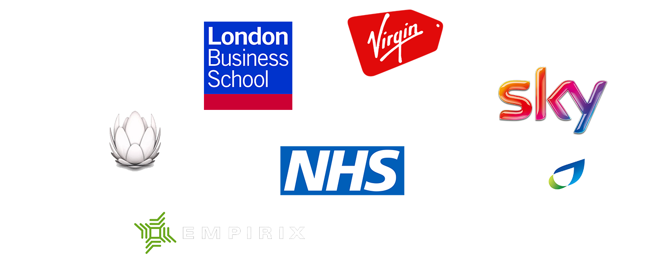 User Experience clients in Canada and UK and Europe: London Business School, BBC, Virgin Holidays, Department for Education, Sky, Liberty Global, NHS, British Gas, Greater London Authority, The Civic Theatre
